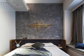 混搭 三居 收纳 小资 简约 卧室图片来自漾设计在Young新作 | 现代工业风《薰》的分享