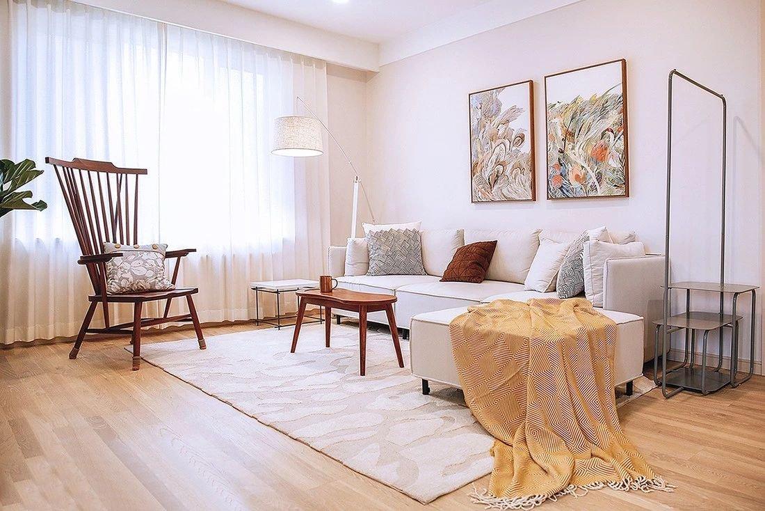 欧式 二居 白领 收纳 旧房改造 80后 小资 客厅图片来自今朝小伟在82北欧格调2居室的分享