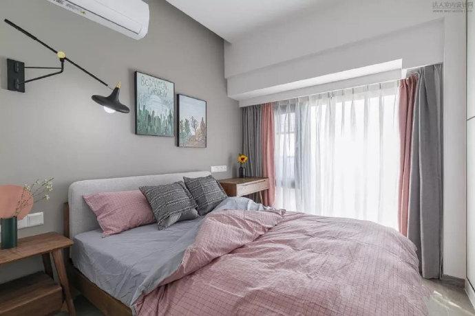 二居 白领 旧房改造 小资 卧室图片来自今朝小伟在72㎡暖色北欧二居的分享