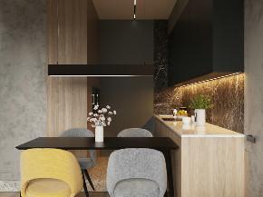 欧式 二居 白领 收纳 旧房改造 餐厅图片来自今朝小伟在精简北欧,舒适而温馨的居住空间的分享