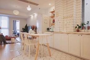欧式 二居 旧房改造 80后 餐厅图片来自今朝小伟在75㎡清新北欧的分享