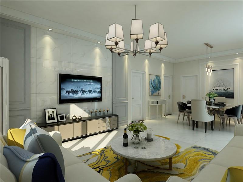 二居 白领 收纳 旧房改造 80后 小资 客厅图片来自今朝小伟在香河设计美式装修效果图的分享