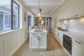 白领 收纳 旧房改造 80后 小资 厨房图片来自今朝小伟在160平恬静温暖美式四居室的分享