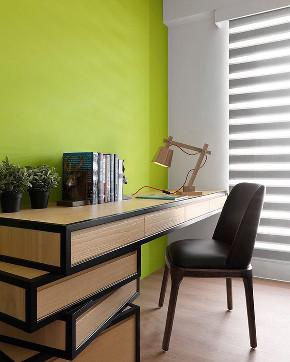 二居 简约 白领 收纳 旧房改造 80后 小资 书房图片来自今朝小伟在简约时尚的木色-北京山语城的分享
