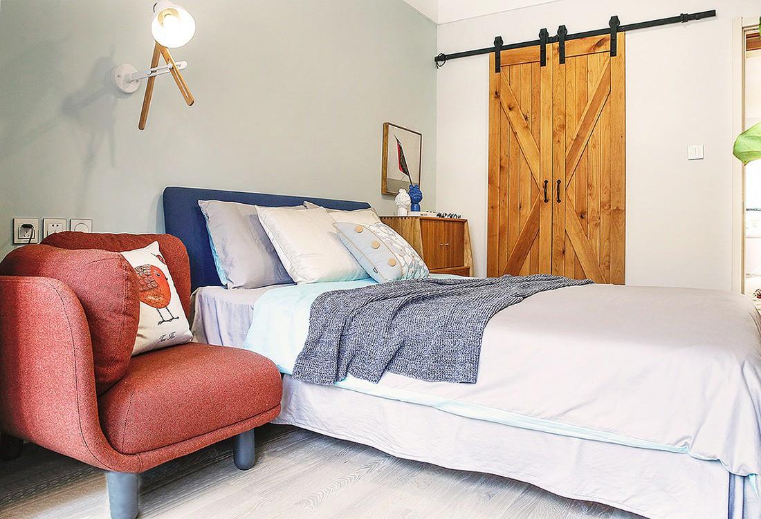 欧式 二居 白领 收纳 旧房改造 80后 小资 卧室图片来自今朝小伟在82北欧格调2居室的分享
