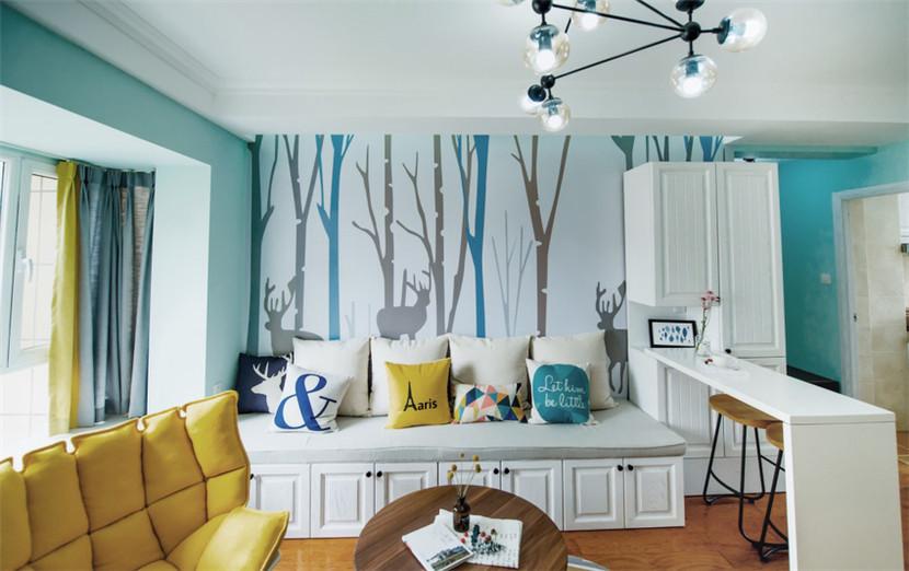 简约 旧房改造 80后 小资 收纳 客厅图片来自今朝小伟在87平小户型三室两厅的分享