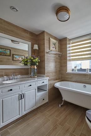 白领 收纳 旧房改造 80后 小资 卫生间图片来自今朝小伟在160平恬静温暖美式四居室的分享
