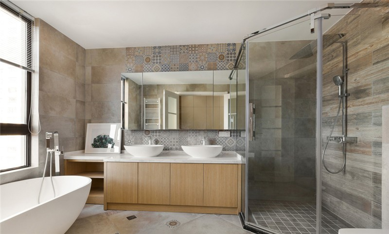 欧式 二居 白领 旧房改造 收纳 80后 小资 卫生间图片来自今朝小伟在花语城北欧装修效果图的分享
