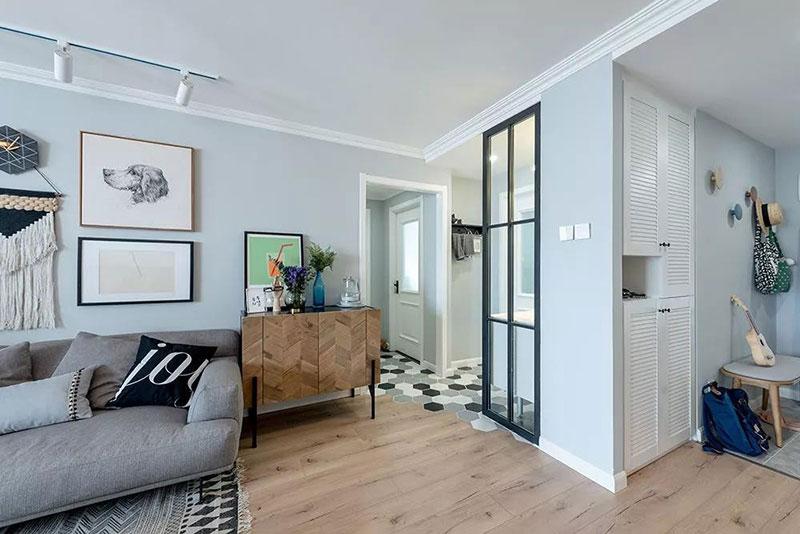 简约 二居 白领 收纳 80后 旧房改造 小资 客厅图片来自今朝小伟在枫丹丽舍现代简约效果图的分享