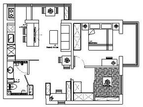 简约 二居 白领 收纳 旧房改造 80后 小资 户型图图片来自今朝小伟在北新桥香饵胡同现代简约风格的分享