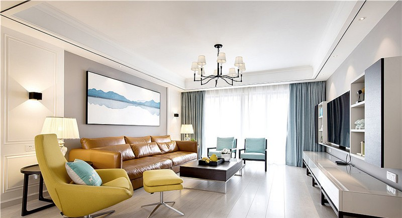 简约 二居 白领 收纳 旧房改造 80后 小资 客厅图片来自今朝小伟在东湖湾现代简约装修效果图的分享