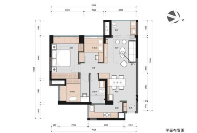 欧式 二居 白领 收纳 80后 小资 旧房改造 户型图图片来自今朝小伟在青年萌居北欧风格装修效果图的分享