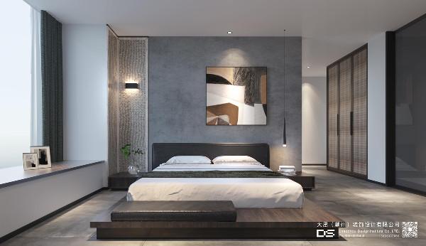 卧室,精力的源料工厂。 好好的睡觉才能更好的工作,而简单、素雅、安静则是卧室空间的关键要素。