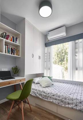 欧式 二居 白领 收纳 旧房改造 80后 小资 卧室图片来自今朝小伟在灰色北欧式风格的分享