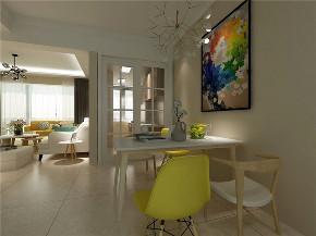 欧式 二居 白领 收纳 旧房改造 80后 小资 餐厅图片来自今朝小伟在红福苑北欧装修效果图的分享