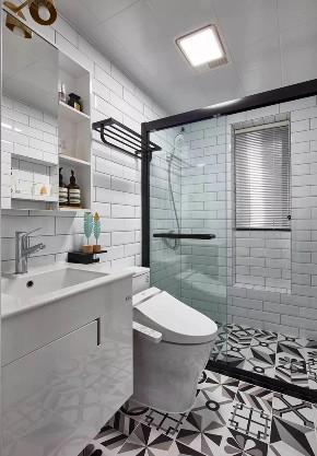 欧式 二居 白领 收纳 旧房改造 80后 小资 卫生间图片来自今朝小伟在龙湖两江星辰,灰色北欧式风格的分享