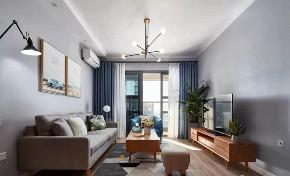 欧式 二居 白领 收纳 旧房改造 80后 小资 客厅图片来自今朝小伟在龙湖两江星辰,灰色北欧式风格的分享
