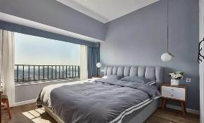 欧式 二居 白领 收纳 旧房改造 80后 小资 卧室图片来自今朝小伟在龙湖两江星辰,灰色北欧式风格的分享
