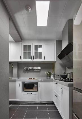 欧式 二居 白领 收纳 旧房改造 80后 小资 厨房图片来自今朝小伟在龙湖两江星辰,灰色北欧式风格的分享