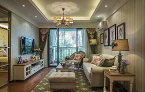 田园 二居 白领 收纳 旧房改造 80后 小资 客厅图片来自今朝小伟在温馨舒适的欧式田园风格的分享