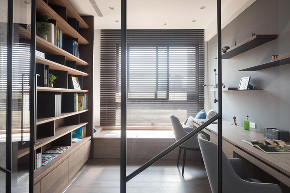 简约 二居 白领 收纳 旧房改造 80后 小资 书房图片来自今朝小伟在现代简约装修设计的分享