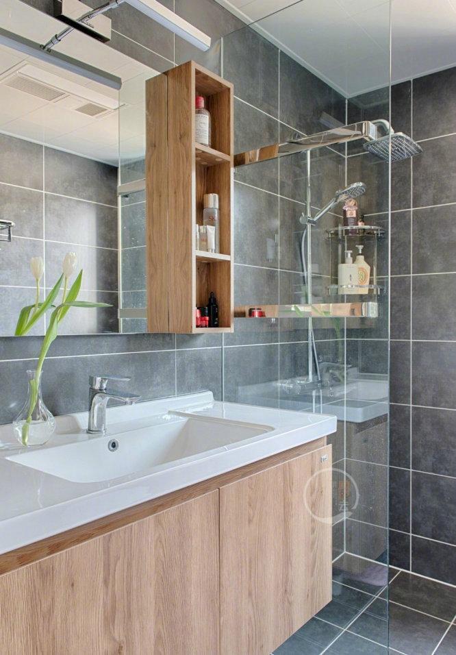 欧式 二居 白领 收纳 旧房改造 80后 小资 卫生间图片来自今朝小伟在70㎡原木北欧的分享
