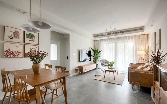 欧式 二居 白领 收纳 旧房改造 80后 小资 餐厅图片来自今朝小伟在70㎡原木北欧的分享
