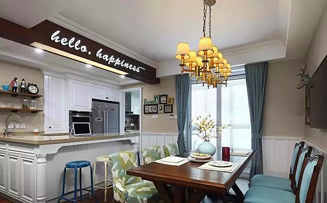 混搭 白领 收纳 旧房改造 80后 小资 餐厅图片来自今朝小伟在150平美式混搭 儿童房阳台都超赞的分享