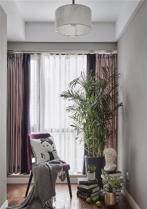 三居 白领 收纳 旧房改造 80后 小资 阳台图片来自今朝小伟在浅紫色基调 128平美式格调3居室的分享