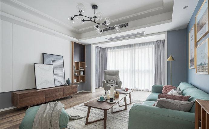 混搭 二居 白领 收纳 旧房改造 80后 小资 客厅图片来自今朝小伟在北欧与美式混搭装修的分享