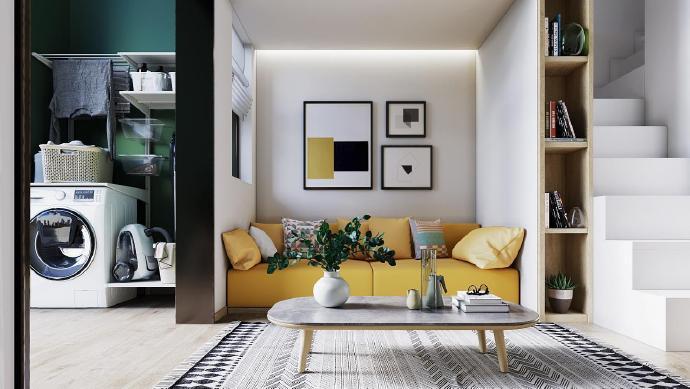 简约 白领 收纳 旧房改造 80后 小资 客厅图片来自今朝小伟在LOFT轻简小住宅的分享