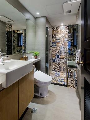 混搭 三居 白领 收纳 旧房改造 80后 小资 卫生间图片来自今朝小伟在时尚混搭风格效果图的分享
