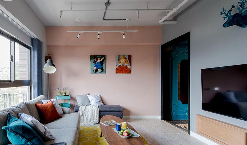 混搭 三居 白领 收纳 旧房改造 80后 小资 客厅图片来自今朝小伟在时尚混搭风格效果图的分享