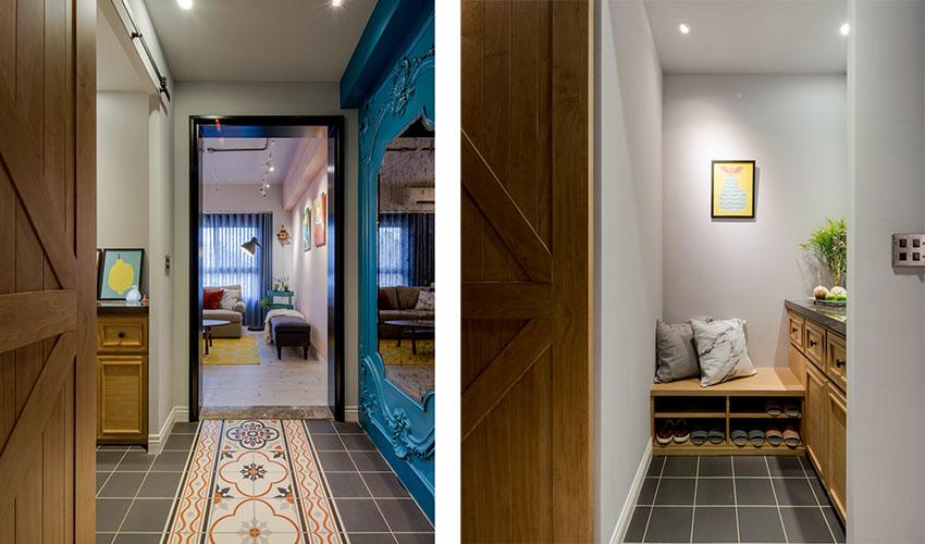 混搭 三居 白领 收纳 旧房改造 80后 小资 玄关图片来自今朝小伟在时尚混搭风格效果图的分享