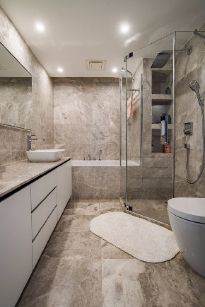 简约 三居 白领 收纳 旧房改造 80后 小资 卫生间图片来自今朝小伟在三空间实景图-120平米-简约风格的分享