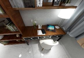 二居 白领 收纳 旧房改造 80后 小资 书房图片来自今朝小伟在金玉府小区现代轻奢设计案例的分享