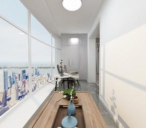 三居 白领 收纳 旧房改造 80后 小资 阳台图片来自今朝小伟在129平现代简约风格3居室的分享