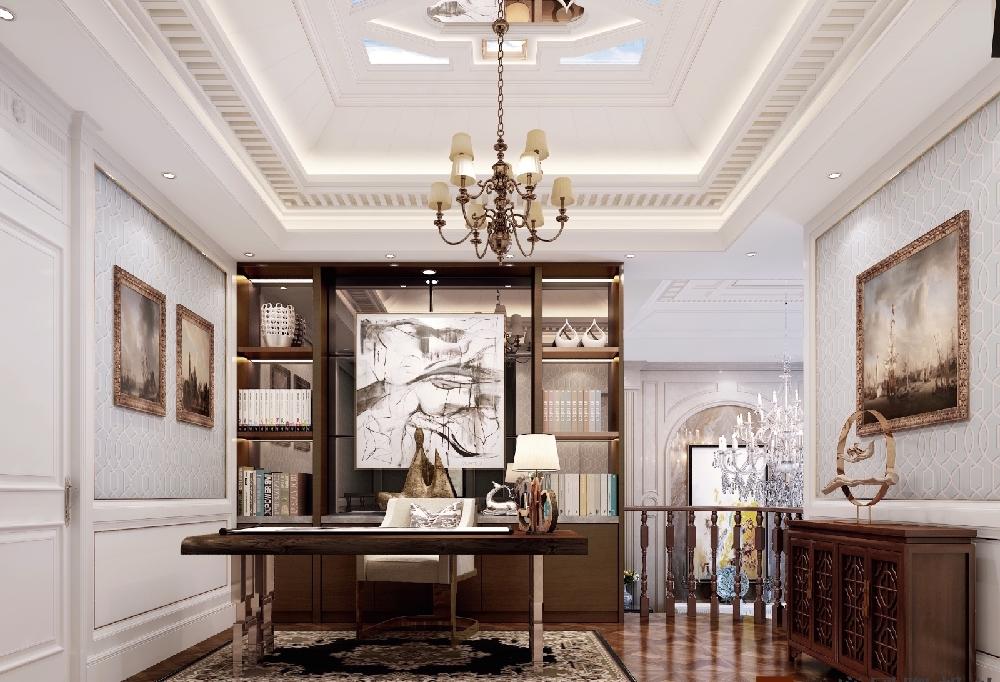 混搭 三居 收纳 白领 旧房改造 80后 小资 书房图片来自今朝小伟在简欧效果,中式元素完美结合的分享