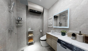 简约 二居 白领 收纳 旧房改造 80后 小资 卫生间图片来自今朝小伟在95平米现代简约风格的分享