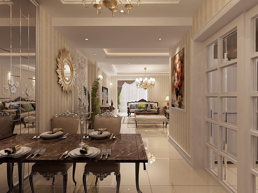 欧式 晋级装饰 小资 餐厅图片来自晋级装饰官方在欧式新古典的分享