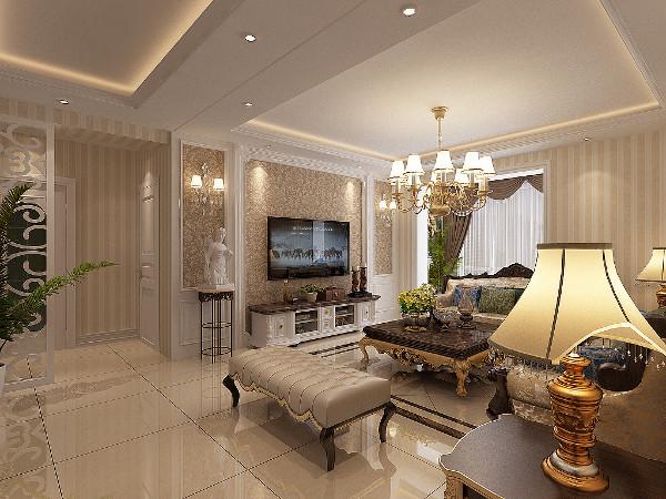 室内整体造型优雅,家居装饰工艺、整体结构、内外线条具有柔和婉转、严谨对称的特点,以精致的手法创造出华贵优雅,轻松明朗的空间环境。