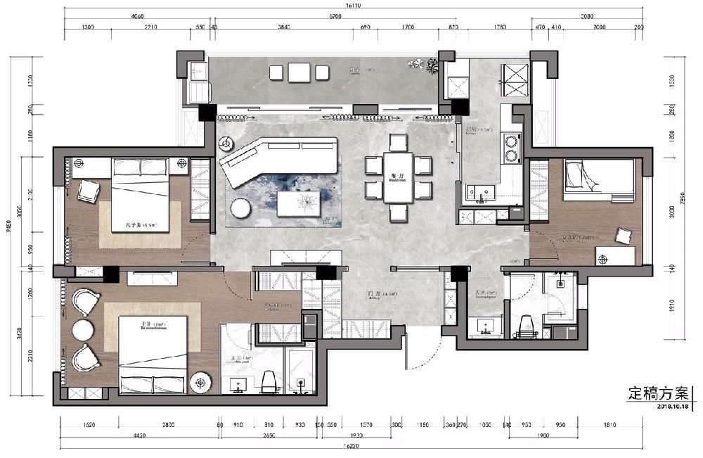 三居 白领 收纳 旧房改造 80后 小资 户型图图片来自今朝小伟在150㎡现代3居室的下午时光的分享