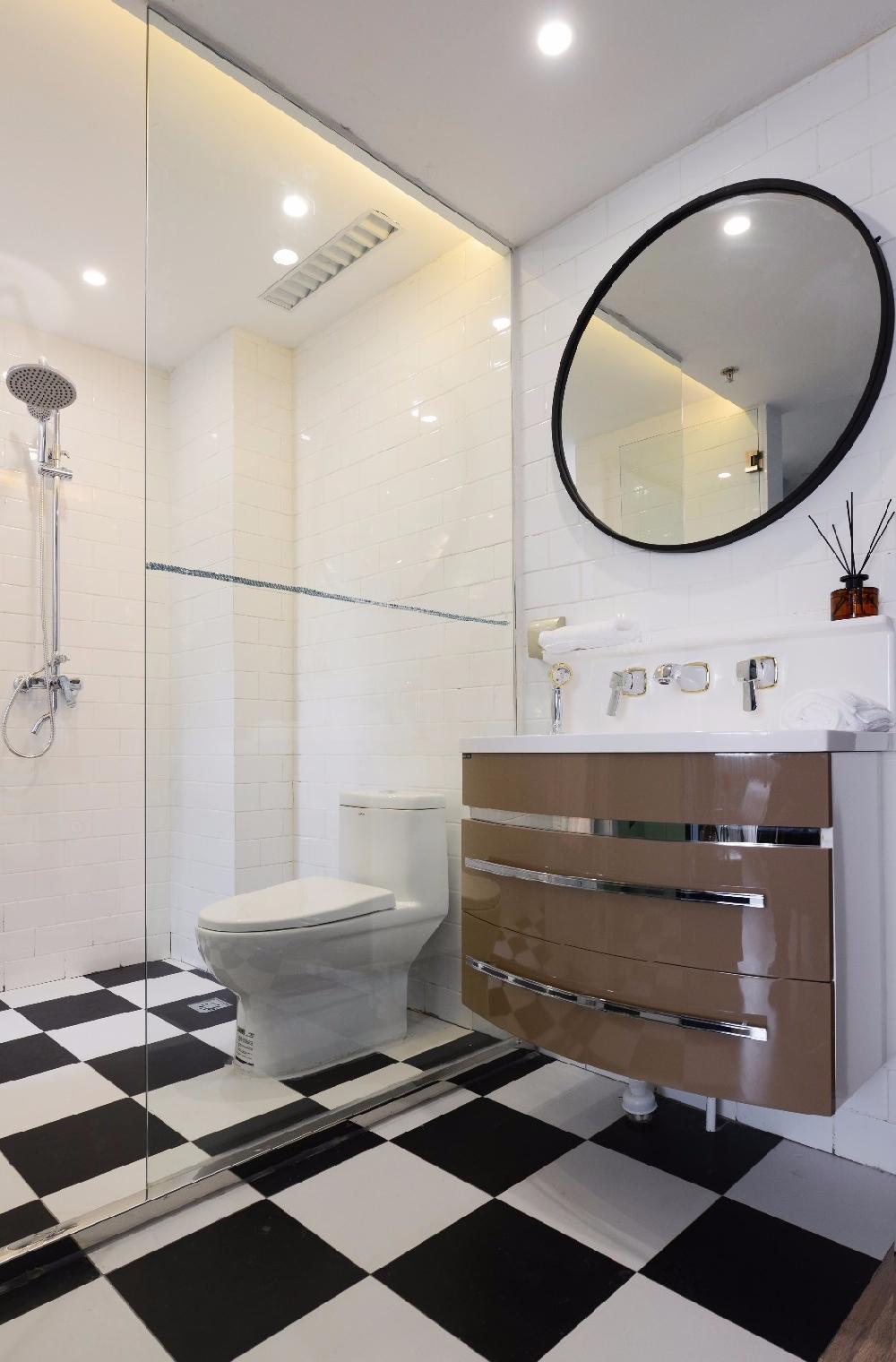混搭 白领 收纳 旧房改造 80后 小资 卫生间图片来自今朝小伟在清新北欧田园混搭一居室的分享