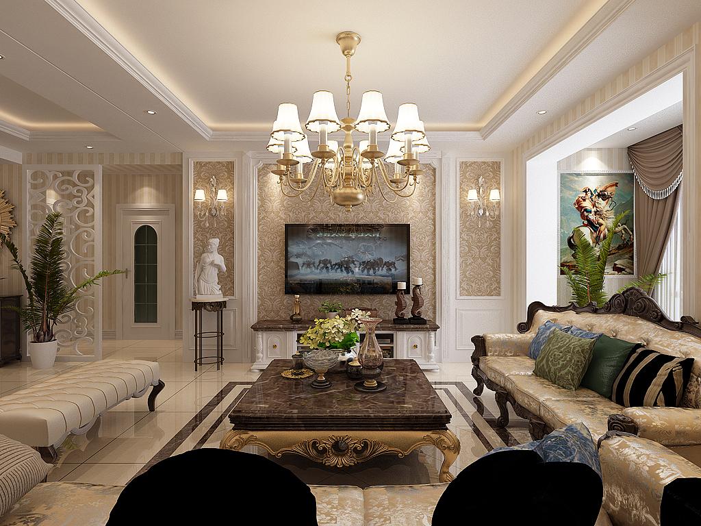 欧式 晋级装饰 小资 客厅图片来自晋级装饰官方在欧式新古典的分享