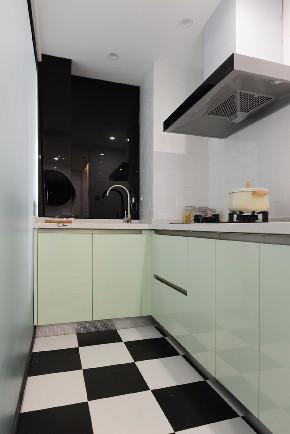 混搭 白领 收纳 旧房改造 80后 小资 厨房图片来自今朝小伟在清新北欧田园混搭一居室的分享