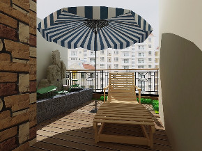 二居 白领 收纳 旧房改造 80后 小资 阳台图片来自今朝小伟在新中式风格,内敛,沉稳、大气的分享