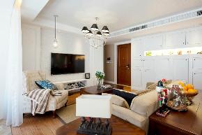 田园 三居 白领 旧房改造 小资 收纳 80后 客厅图片来自今朝小伟在美式田园的分享