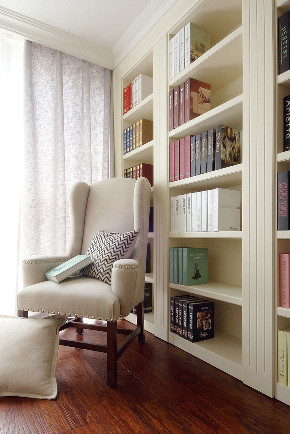 二居 白领 收纳 旧房改造 80后 小资 书房图片来自今朝小伟在美式风格,您舒适的首选的分享