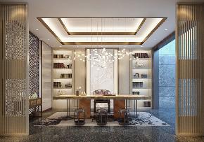 白领 收纳 旧房改造 80后 小资 书房图片来自今朝小伟在340平米新中式五口之家的分享