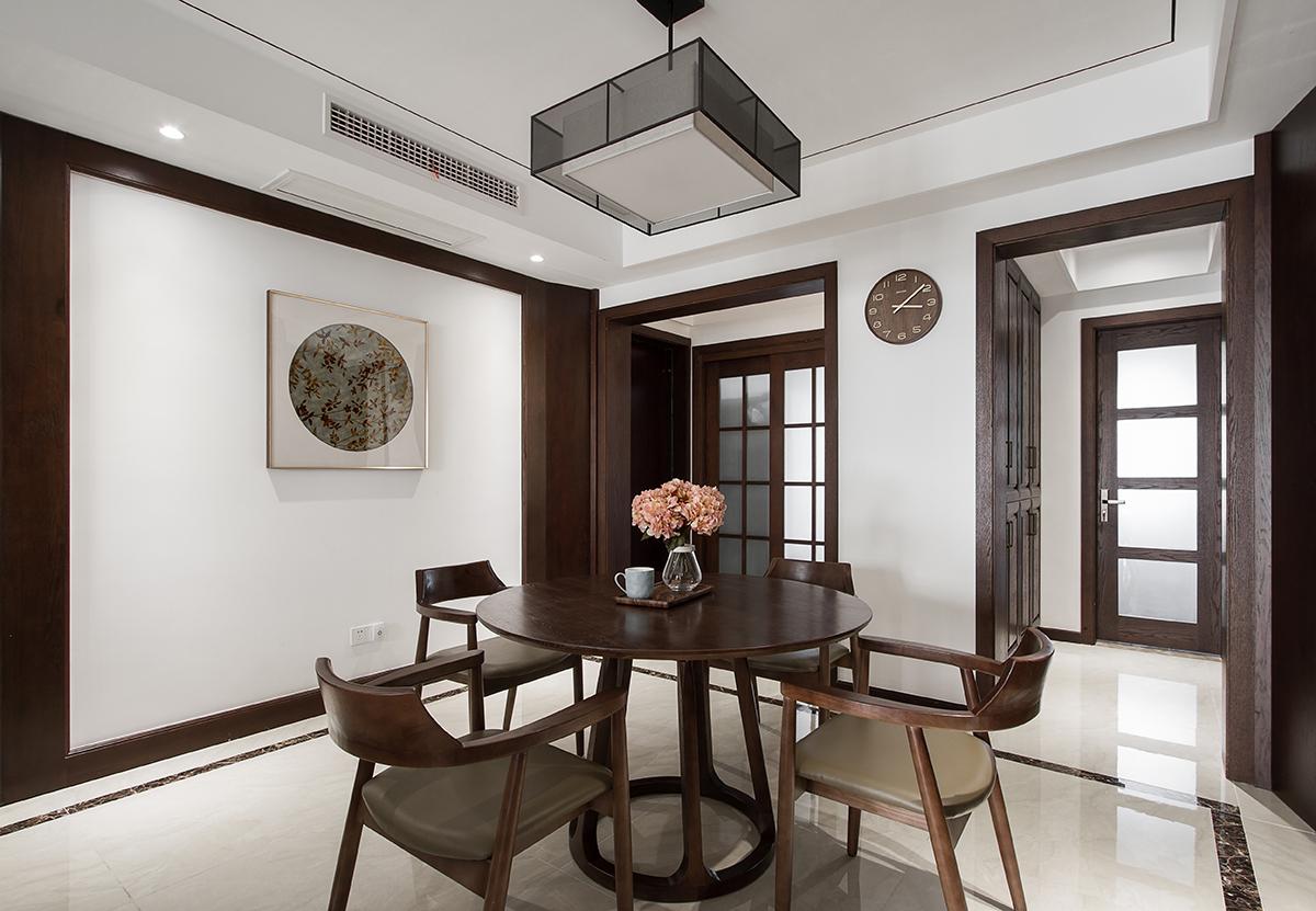 苏州设计师 贝瑞设计 平层公寓 新中式风格 餐厅图片来自展小宁在小户型里的新中式的分享